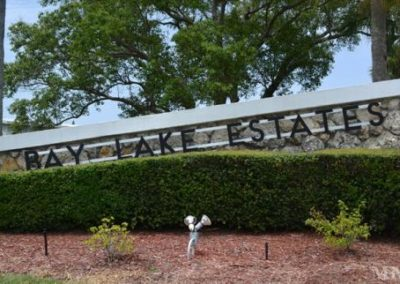 Bay Lake Estates Entrance Sign