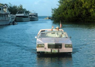 Pink Cadillac Boat